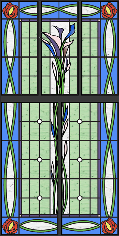 Arts And Crafts Stained Glass Sash Window Steven