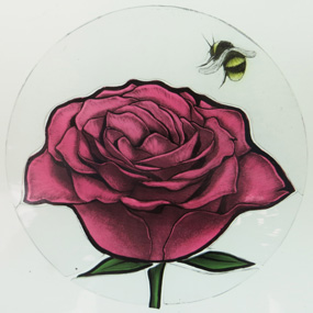 stained glass rose