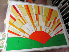 Art Deco Sunrise Steven Cartwright Glass Designs