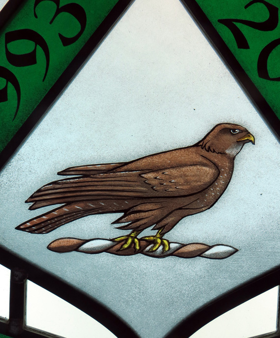 stained glass buzzard