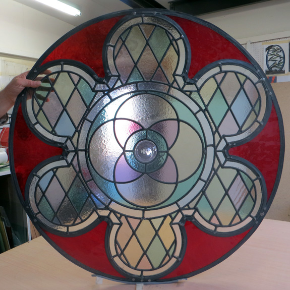 Leaded light rose window steven cartwright glass designs for Rose window design